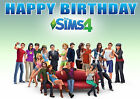 Large Sims 4 sims4 Computer Game Party Cake Decoration icing sheet personalised