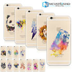 Coloré  Aquarelle Animal Coque Housse Etuis Silicone Pour iPhone 6/6S Samsung