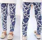 Design Kids Toddler Girls Leggings Pants Floral Printed Trousers Size 3-7Y LL