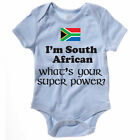 SOUTH AFRICAN WHAT'S YOUR SUPER POWER - South Africa / Fun Themed Baby Grow/Suit