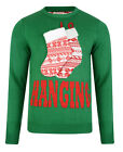 Christmas Jumpers New Novelty Xmas Knit Sweater 3D Funny Hanging Stockings Green