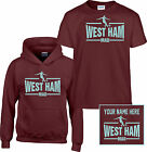 WEST HAM,MAd,BOYS, KIDS,CHILDRENS,T SHIRT,HOODIE,PERSONALISEd,FREE,age3 to 13