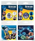 DOCTOR WHO Button Badge Pack Selection OFFICIAL Birthday Christmas Gift  Dr