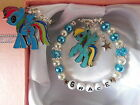 My Little Pony Personalised Bracelet Childs Rainbow Dash Gift Box or Gift Bag