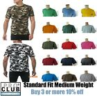 PRO CLUB T SHIRTS MENS PLAIN CAMO TEE SHIRT PROCLUB COMFORT SHORT SLEEVE S 7XL