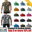 PRO CLUB T SHIRTS MEN'S PLAIN CAMO TEE SHIRT PROCLUB COMFORT SHORT SLEEVE S- 7XL image