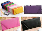 New Women Envelope Bag Clutch Handbag Soft PU Purse Covered Button Wallet US image