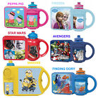 COMBO SET KIDS SCHOOL LUNCH BOX & SPORTS WATER BOTTLE SELECT YOUR CHARACTER NEW