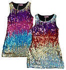 Girls Hoogy Googy Sequin Front Rainbow Cascade Party Dress 3 to 12 Years