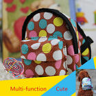 Girl Outdoors Food Carrier Bag Fashion Pet Dog Dot Backpack With Harness Puppy
