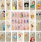 Princess Character Hard Cover Water Colour Case Fits iPhone 5 5c 5s SE 6 6s 7 8