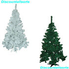 5ft & 6ft CHRISTMAS TREES GREEN & WHITE NATURAL LOOK