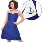 Steady Clothing Sail Away Dress Rockabilly Pin Up Cute Nautical Anchor Retro
