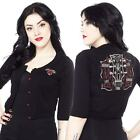 Sourpuss Johnny Cash Burning Thing Crop Cardigan Rockabilly Pin Up Retro Country