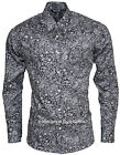RELCO PLATINUM COLLECTION Satin Cotton Shirt PAISLEY BLACK 60s Mod Skin RSF603