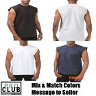 LOT 6 PACK PRO CLUB SLEEVELESS T SHIRTS Mens Heavyweight Muscle Tank Top M - 7XL