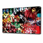 1702 HORROR MANIACS COLLAGE CANVAS ART PRINT