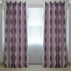 HIGA 2x Ring Top Door Window Blackout Blockout Purple Curtains Fully Lined Drape