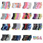 Внешний вид - 3 6 12 Pairs Lot Kids Crew Ankle Socks Toddler Boy Girl Casual 0-12 2-3 4-6 6-8