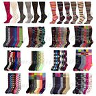 Внешний вид - Women's Girl Lady Knee High Socks Lot Multi Pattern School Argyle 9-11 Gift