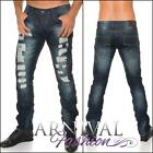 NEW DESTROYED JEANS FOR MEN CASUAL WEAR MEN'S JEAN PANTS MENS FASHION CLOTHING