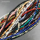 Wholesale Lot Natural Gemstone Round Spacer Loose Beads 4mm 6mm 8mm 10mm 15.5""