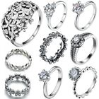 New Genuine Fine Handmade Design 925 Silver Jewelry Filled Wedding Ring Size 6-9