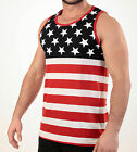 MEN'S USA. FLAG TANK TOP AMERICAN PRIDE STARS AND STRIPES SLEEVELESS TEE SHIRT image