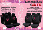 WNB Hearts and Fairy Seat Covers Full Set Air Bag Ready Full Set Front & Rear