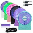 Mini Portable Wireless Rechargeable Super Strong Wind Desk Fan Cooling LED Light