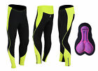 Womens Winter Cool Max Padded Cycling Tights Trousers Running Thermal Leggings