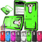 For LG Phone Models Heavy Duty Tuff Armor Case Protective Cover Skin+ Stylus