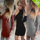 UK Womens Bodycon Cold Shoulder Dress Ladies Party Evening Mini Dress Size 6-14