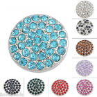 1PC Dull Silver Snap Buttons Crystal Rhinestone For Bracelet Jewelry DIY