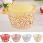 12PCs Paper Cupcake Wrapper Hollow Fit Wedding Party Birthday 18.5x5cm
