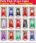 Party Pack - 25pcs superhero capes for kids Birthday party supplies (Only Capes)