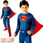 New Superman Boys Fancy Dress Dawn of Justice Superhero Kids Childs Book Costume