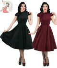 HEARTS and ROSES H&R LONDON 50's DESIRABLE VELVET BROCADE party DRESS