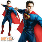 Deluxe Muscle Superman Man of Steel Fancy Dress Mens Superhero Adult Costume