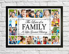 FAMILY PHOTO/PICTURE COLLAGE MONTAGE FRAMED PRINT PERSONALISED GIFT FRAME BLESS