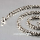 """Cool 5.5mm Stainless Steel Basket & Wheat Chain Necklace Various Lengths 16""""-40"""""""