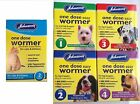 Johnsons Roundworm Tapeworm Worming Tablets One Dose Easy Wormer Dog Cat