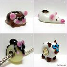 'CAT AND MICE'  1 x Cat/Mouse Murano Glass Animal/Insect European Charm Bead