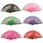 Hollow Out Frame Bloom Flower Print Handheld Dance Hand Fan