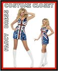 UK Flag 90s Ginger Spice Austin Powers Fancy Dress Costume Hollywood TV Famous