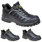 MENS LADIES SAFETY GRAFTERS COMPOSITE TOE CAP SHOES BLACK WORK HIKING TRAINERS