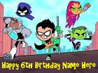 Teen Titans edible icing cake toppers. Personalise for your occasion!
