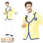 Yellow Holiday Rep Mens Fancy Dress Hi De Hi Host Uniform Adults Costume Outfit