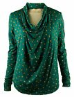 Michael Kors Women's Draped Pyramid-Stud Print Blouse Top