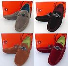 brown suede driving shoes - Men's PLATINI Grey Black Brown Red suede loafers slip on casual driving shoes